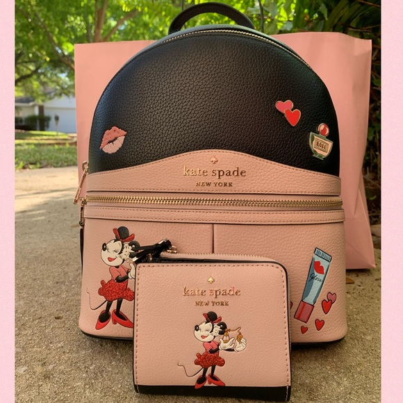 Kate Spade Minnie Mouse Backpack Wallet Mickey Set